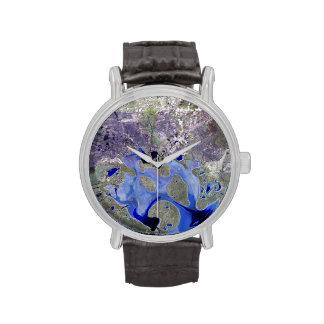 Landsat 7 Lake Carnegie Wristwatches