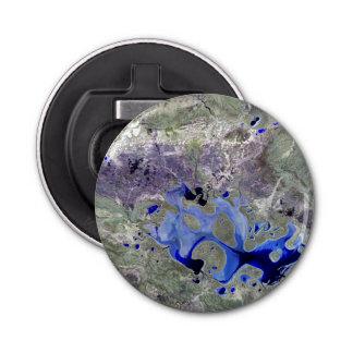 Landsat 7 Lake Carnegie Button Bottle Opener