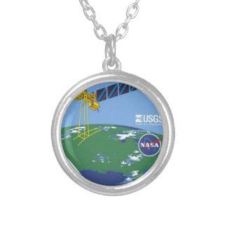 Landsat 7  Program Logo Custom Necklace