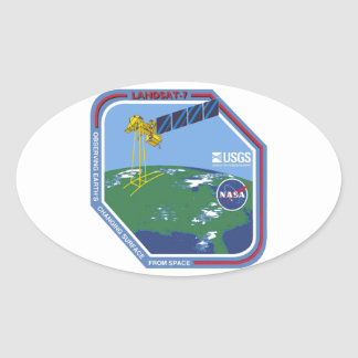 Landsat 7  Program Logo Oval Sticker
