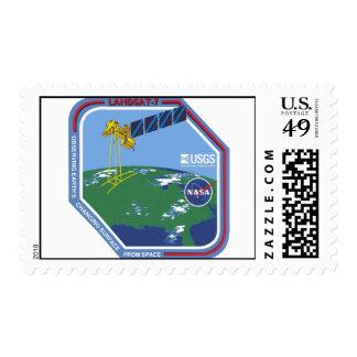 Landsat 7 Program Logo Postage