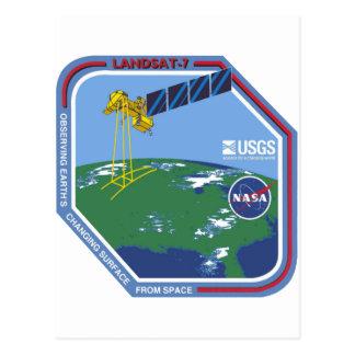 Landsat 7  Program Logo Postcard