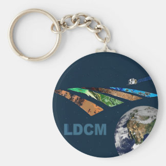 Landsat Data Continuity Mission Program Logo Keychain