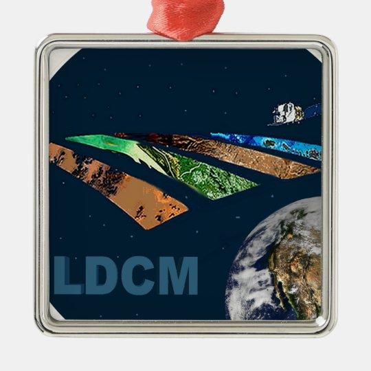 Landsat Data Continuity Mission Program Logo Metal Ornament