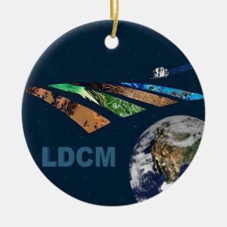Landsat Data Continuity Mission Program Logo Double-Sided Ceramic Round Christmas Ornament