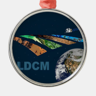 Landsat Data Continuity Mission Program Logo Round Metal Christmas Ornament