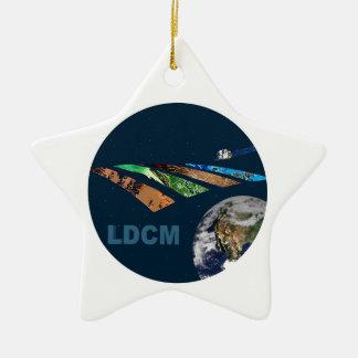 Landsat Data Continuity Mission Program Logo Double-Sided Star Ceramic Christmas Ornament