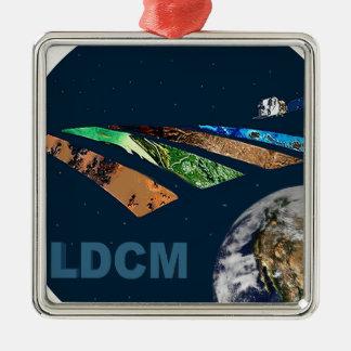 Landsat Data Continuity Mission Program Logo Square Metal Christmas Ornament