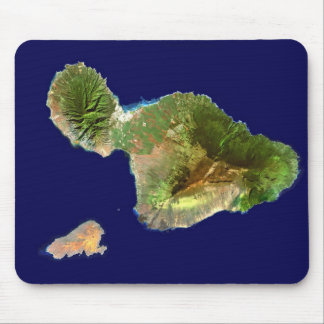 Landsat Satellite Image of Maui from Space Mouse Pad