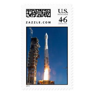 Landsat Spacecraft Launch Stamps