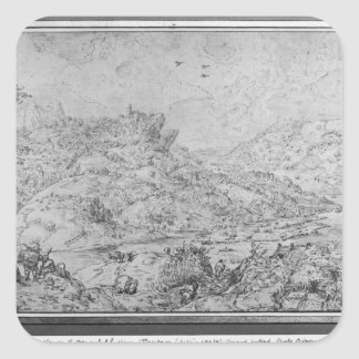 Landscape, 1553 square sticker