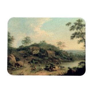 Landscape, 1758 rectangular photo magnet