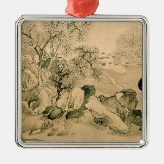 Landscape, 1771 metal ornament