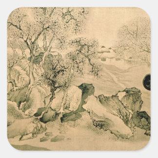 Landscape, 1771 square sticker