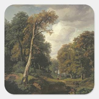 Landscape, 1850 square sticker