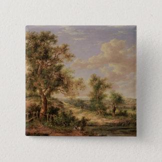 Landscape, 19th century button