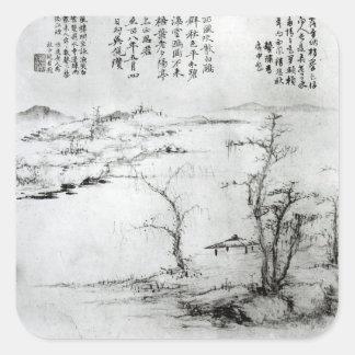 Landscape 2 square sticker