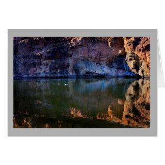 Landscape 49 Sunny color rocks river white duck Card