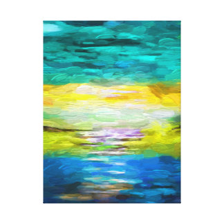 Landscape abstract Oil Paiting Wrapped Canvas