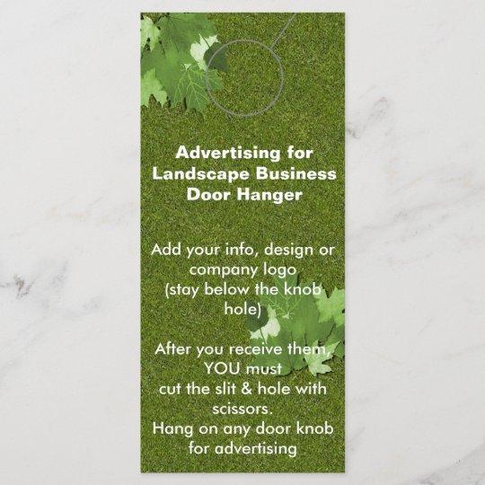 landscape advertising door hanger promotion tags zazzle com