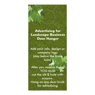 Landscape Advertising DOOR HANGER promotion tags Rack Card