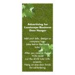 Landscape Advertising DOOR HANGER promotion tags Custom Rack Cards
