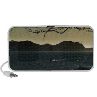 Landscape Aerial View of Taganga Bay in Colombia Portable Speaker