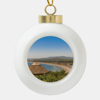 Landscape Aerial View Piriapolis Uruguay Ceramic Ball Christmas Ornament