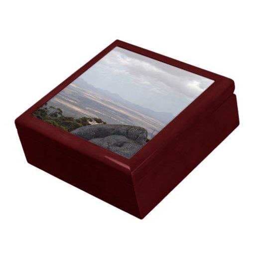 Landscape against cloudy sky keepsake box