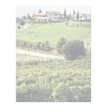 Landscape and farm, Tuscany, Italy Europe Letterhead
