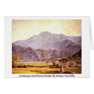Landscape And Home Garden By Johann Von Dillis Card