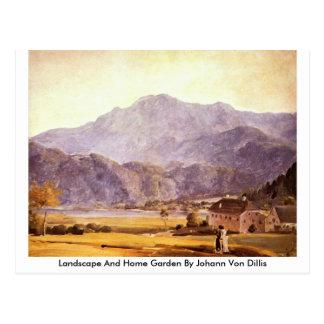 Landscape And Home Garden By Johann Von Dillis Postcards