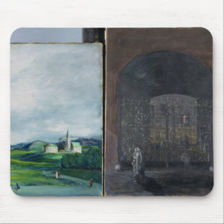 Landscape and street scene mouse pad
