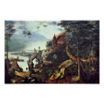 Landscape And Temptation Of St. Anthony By Bruegel Poster