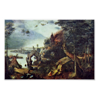 Landscape And Temptation Of St. Anthony By Bruegel Posters