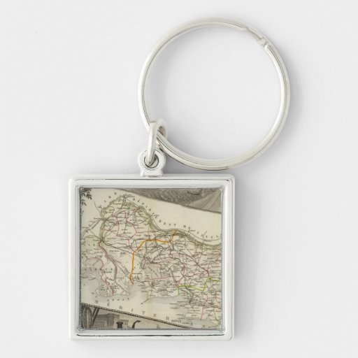 Landscape and towns key chain