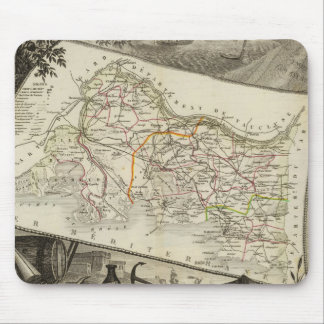 Landscape and towns mouse pad