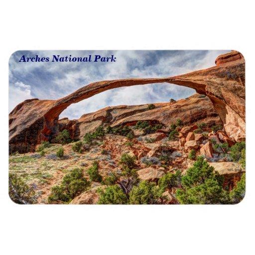 Landscape Arch - Arches National Park - Utah Rectangle Magnets