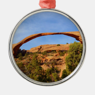 Landscape Arch at Arches National Park Metal Ornament