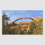 Landscape Arch at Arches National Park Rectangular Sticker