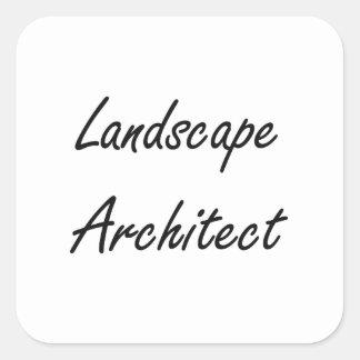 Landscape Architect Artistic Job Design Square Sticker