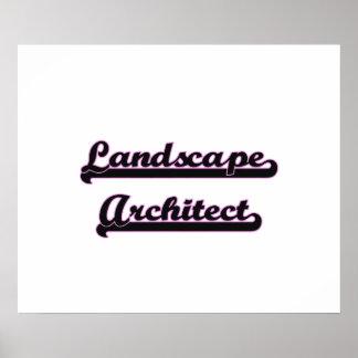 Landscape Architect Classic Job Design Poster