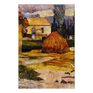 Landscape, Arles by Eugène Henri Paul Gauguin Poster
