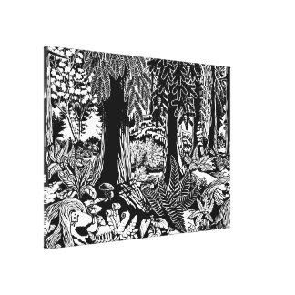 Landscape Art Prints B & W Forest Art Canvas Print