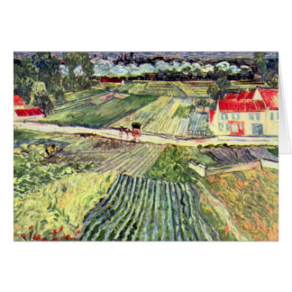 Landscape at Auvers in the Rain by van Gogh Card