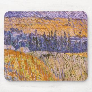 Landscape at Auvers in the Rain, Vincent van Gogh Mouse Pad