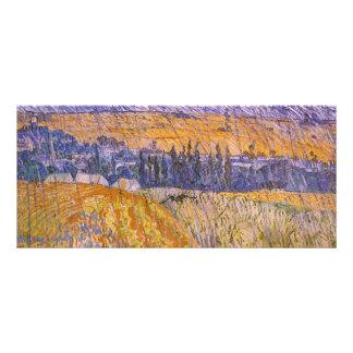 Landscape at Auvers in the Rain, Vincent van Gogh Rack Card