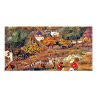 Landscape At Cagnes By Pierre-Auguste Renoir Personalized Photo Card