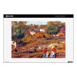 Landscape at Cagnes by Pierre Renoir Decals For Laptops