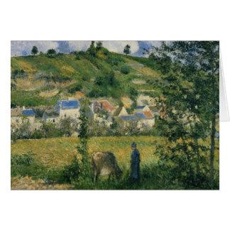 Landscape at Chaponval, 1880 Card